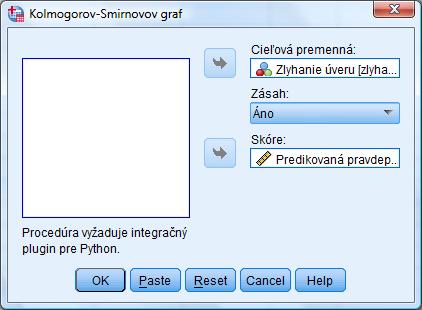 Skript: Kolmogorův – Smirnonův graf | verze 23